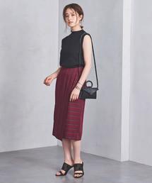 UBCB R/N パネルストライプ ラップスカート ◆