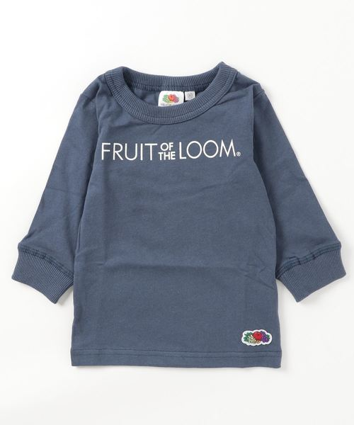fruit of the loom プリントロンtビッグロゴ 80 160cm tシャツ