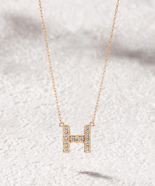 品質一番の 【セール】【ESTELLE/エステール ONLINE イニシャル】 イエローゴールド【WEB限定商品】K10 イエローゴールド ダイヤモンド イニシャル ネックレス(H)(ネックレス)|ESTELLE(エステール)のファッション通販, BEEGEE:2fd16e0f --- fahrservice-fischer.de