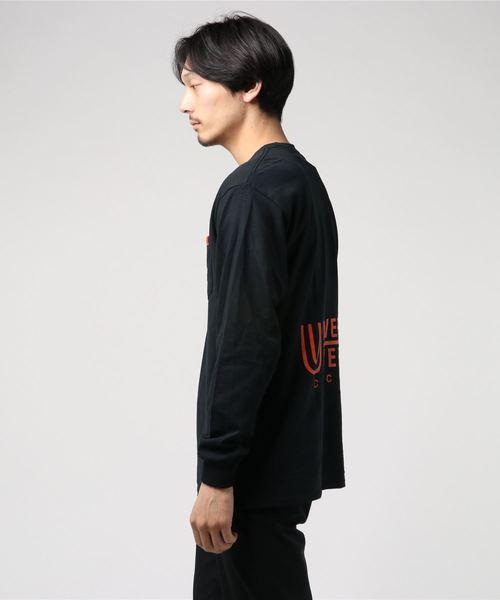 UNIVERSAL OVERALL×FREAK'S STORE/ユニバーサルオーバーオール 別注BACK LOGO LONG SLEEVE T-SHIRTS/バックロゴプリント ロングスリーブTシャツ/ロンT