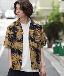 JUNRed(ジュンレッド)の【ビッグシルエット】リーフプリントオープンカラーシャツ(シャツ/ブラウス)