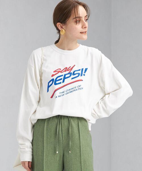 【別注】【WEB限定】<GOOD ROCK SPEED × green label relaxing> DRINK プリント ロングスリーブ Tシャツ
