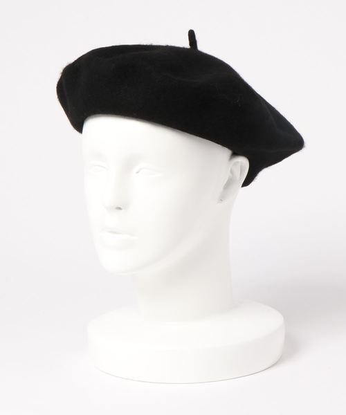 koe(コエ)の「フェルトベレー帽(ハンチング/ベレー帽)」|ブラック