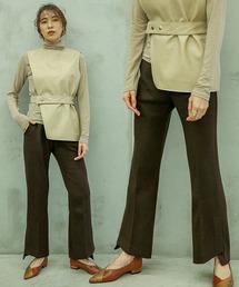 select MOCA(セレクトモカ)のヘムスリットフレアパンツ/サイドスリット裾フレアパンツ(パンツ)