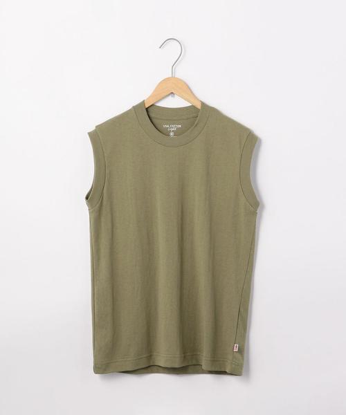 USAコットンノースリーブTシャツ