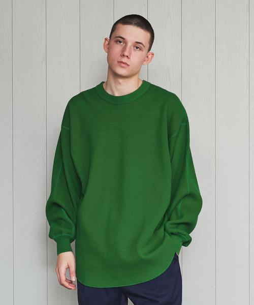 <H>HEAVY HONEY COMB PULLOVER/カットソー