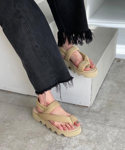 【chuclla】【2021/SS】Puffer strap shark-sole sandal sb-6 chs111