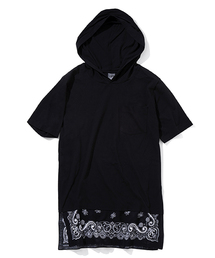 NUMBER (N)INE(ナンバーナイン)のLAYERE HOODED POCKET T-SHIRTS_BANDANA(Tシャツ/カットソー)