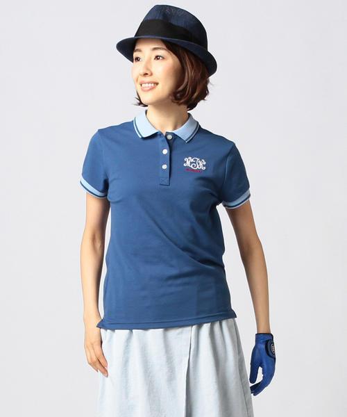 BEAMS GOLF PURPLE LABEL / MONTAUK カノコ ポロシャツ