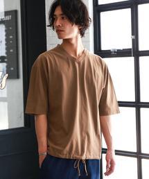 SC WASHED HEM/CORD Vネック Tシャツ ◆