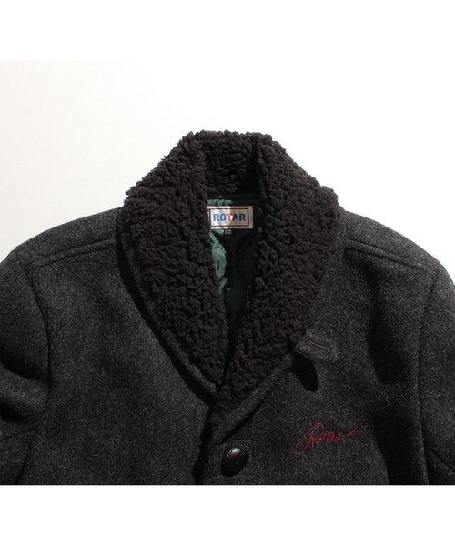 Melton×Boa ranch coat /ボア/メルトン/中綿キルト