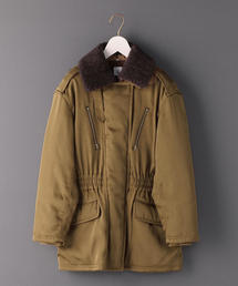 <6(ROKU)>BOA COLLAR ZIP COAT/コート