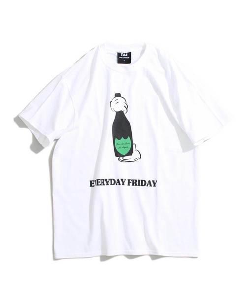 【FAS(Fun Arts Studio)/ファンアートスタジオ】プリントTシャツ/BOTTLE S/S TEE
