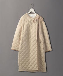 <6(ROKU)>QUILTED COAT BEIGE/コート
