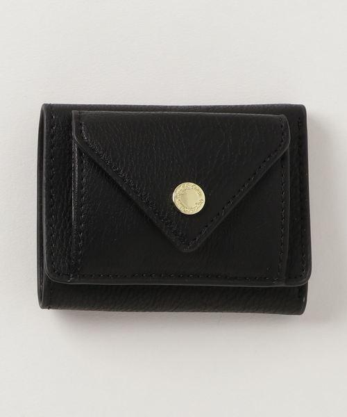 【Legato Largo】レガートラルゴ ランダムシボ合皮3つ折り財布