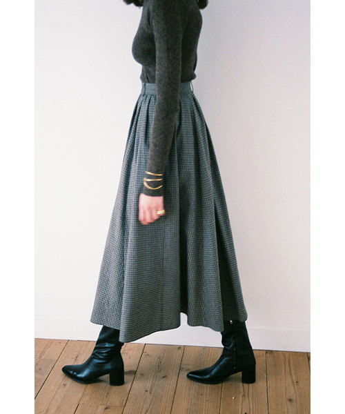 直営店に限定 CHECK FLAIR FLAIR MAXI MAXI SKIRT(スカート)|CLANE(クラネ)のファッション通販, 衝撃特価:69a47c79 --- believe.tiere-gesund-erhalten.de