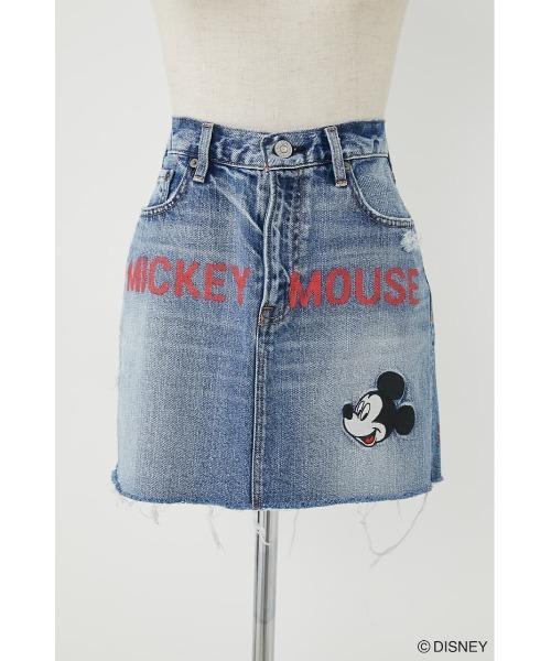 MD MICKEY FLOW DENIM MINI スカート