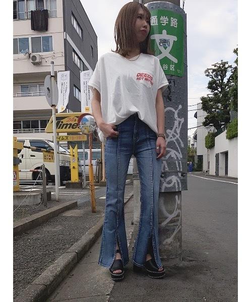 one way(ワンウェイ)の「DEESロゴTシャツ(Tシャツ/カットソー)」|レッド系その他