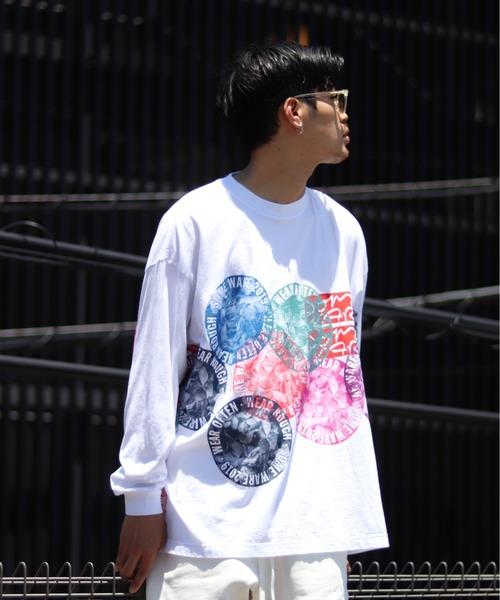 PULP/417EDIFICE(パルプフォーワンセブンエディフィス)の「【SOMEWARE / サム?ウェア】 NEW FLOWER CIRCLE(Tシャツ/カットソー)」|ホワイト
