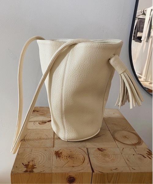 【SANSeLF】fringe leather bag sana6