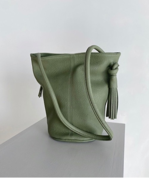 【SANSeLF】fringe leather bag sana6