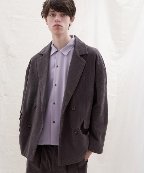 【セットアップ】オーバーサイズ ワイド セットアップ/ダブルテーラードジャケット&タックワイド テーパードパンツ EMMA CLOTHES 2021 SPRING