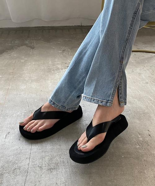【chuclla】【2021/SS】Wide thongs platform-sandal sb-6 chs112