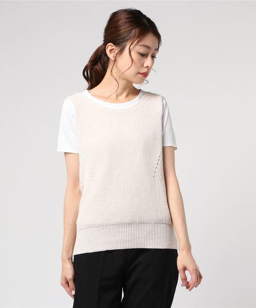 【Allumer/アリュメール】Linen Knit Vest