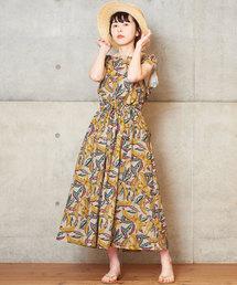CHILD WOMAN(チャイルドウーマン)のC/麻バナナプリント 2WAY ワンピース(ワンピース)
