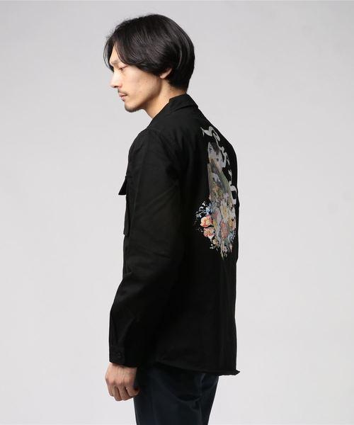 RIPNDIP/リップンディップ/フラワーバーストコットンワークシャツ