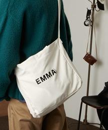 EMMA CLOTHES ロゴ キャンバス生地2WAYトートバッグ / ショルダーバッグオフホワイト