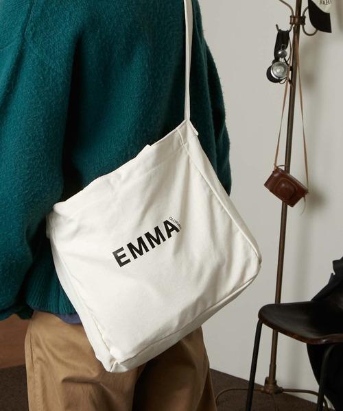 EMMA CLOTHES ロゴ キャンバス生地2WAYトートバッグ / ショルダーバッグ