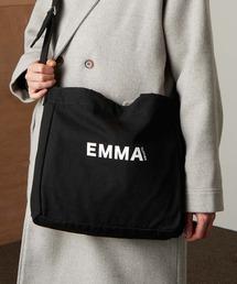 EMMA CLOTHES ロゴ キャンバス生地2WAYトートバッグ / ショルダーバッグブラック