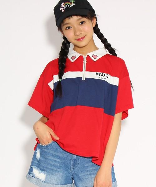 ★ニコラ掲載★ジップ ラガーシャツ