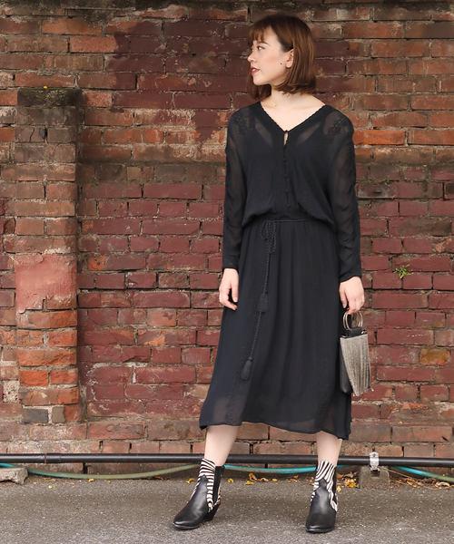 【お買得】 (HLAADA FOR ROSE BUD)EMBROIDERED DRESS, 犬雑貨専門店 銀屋 47dd850c