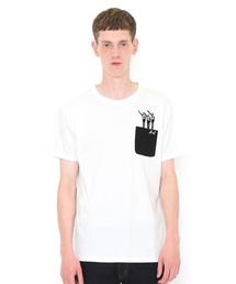 graniph(グラニフ)のコラボレーションTシャツ/ビューティフルシャドー入団(仮面ライダー)(ホワイト)(Tシャツ/カットソー)