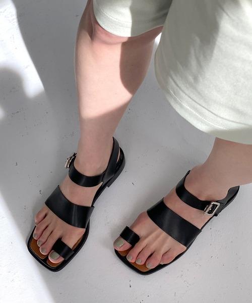 【chuclla】【2021/SS】Tabi-like belt sandal sb-6 chs114