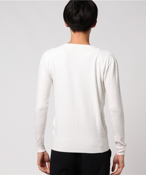 Crew Neck Color Knit Long Sleev