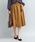 ViS(ビス)の「太ベルト付ギャザースカート(スカート)」|キャメル