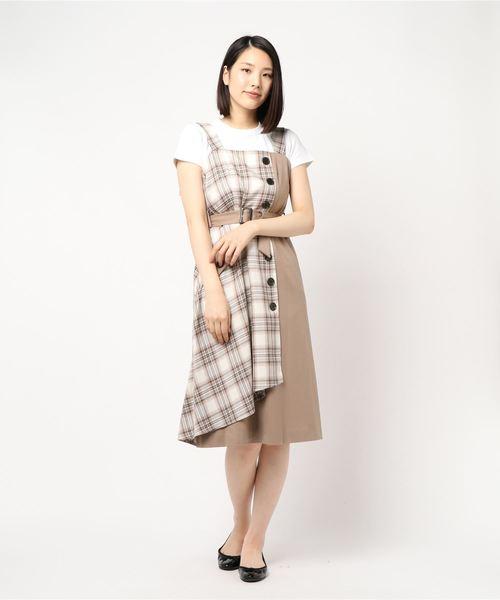 日本に タータンチェックジャンパースカート, BRANDBRAND 59caa09b