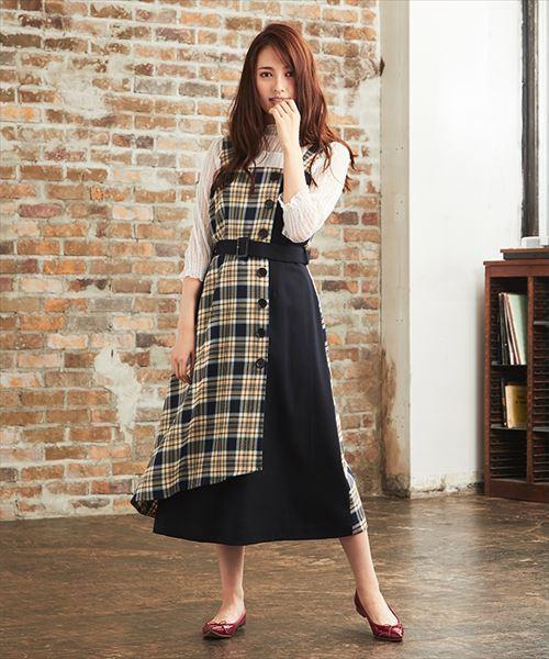 人気満点 タータンチェックジャンパースカート, EYE MAX 528ea82d