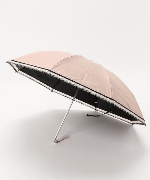 """晴雨兼用折りたたみ傘 """"オーガンジーテープ刺繍"""""""