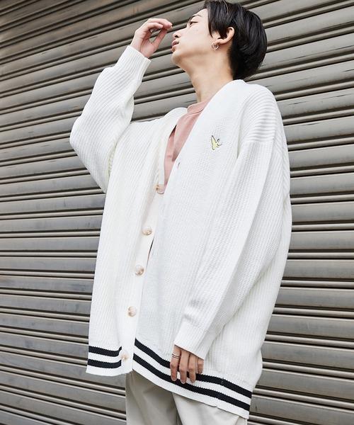 Mark Gonzales/マークゴンザレス MONO-MART別注 ロゴ刺繍 オーバーサイズ アゼニットカーディガン