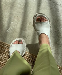 【chuclla】【2021/SS】Wide round-toe sandal sb-6 chs115ホワイト