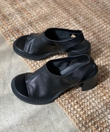【chuclla】【2021/SS】Wide round-toe sandal sb-6 chs115ブラック