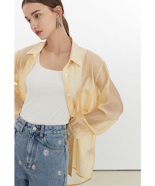 【Fano Studios】【2021SS】Transparent sheer color shirt FX21S209