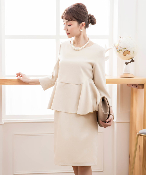 8b976f10d9dbd DRESS STAR(ドレス スター)の「ペプラムデザインフォーマルセットアップ(ドレス)」