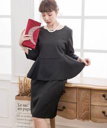 c1b34bfb79685 DRESS STAR(ドレス スター)の「ペプラムデザインフォーマルセットアップ(ドレス)」