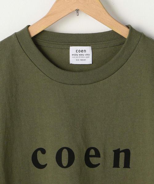【MENS】coen(コーエン)ロゴTシャツ・カラー