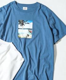 カラーフォトプリントTシャツ